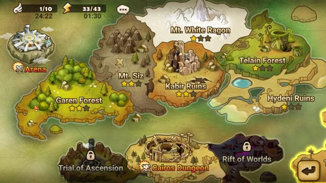 Mapa świata gry