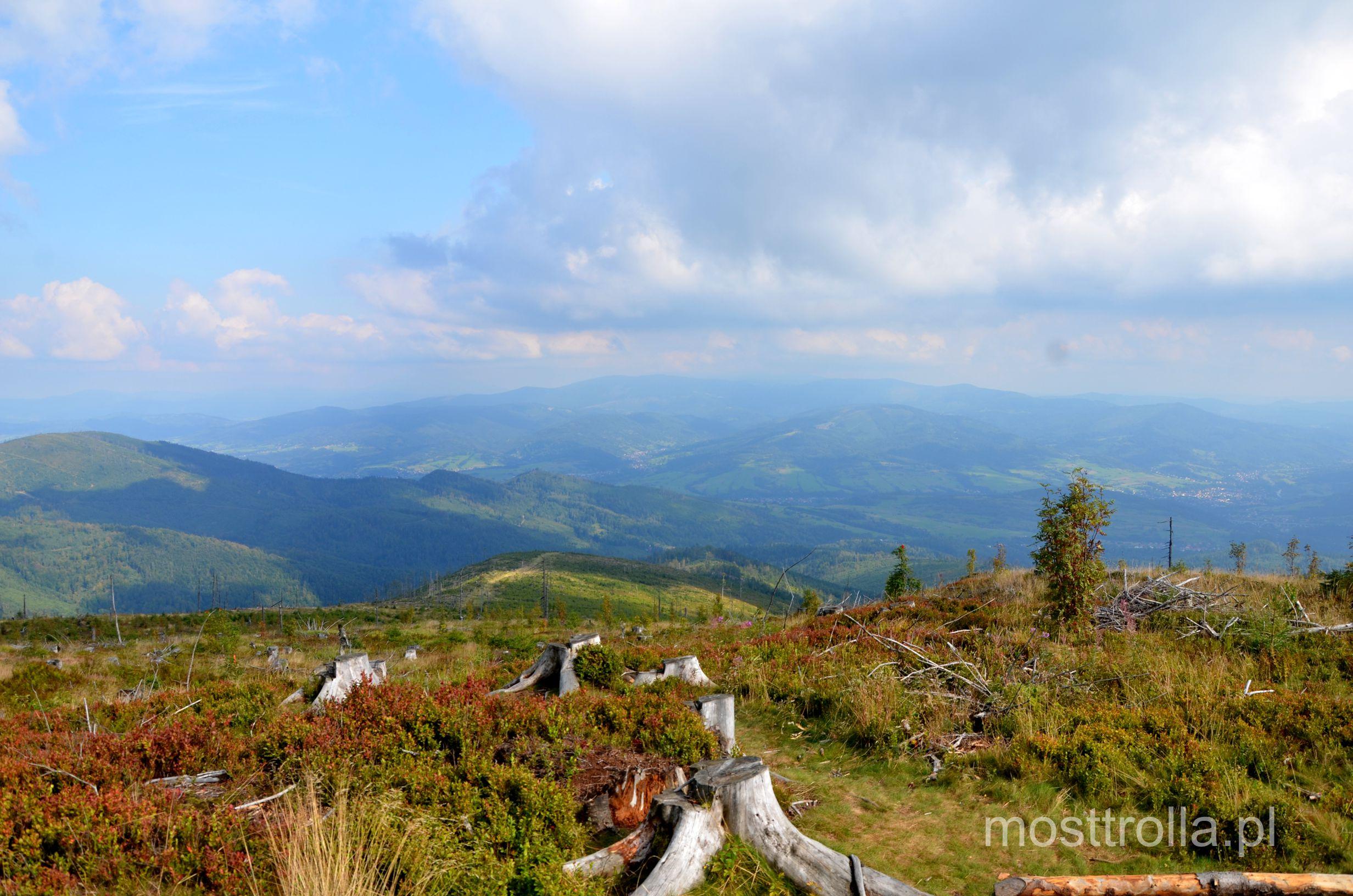 Barania góra - widok ze szczytu.