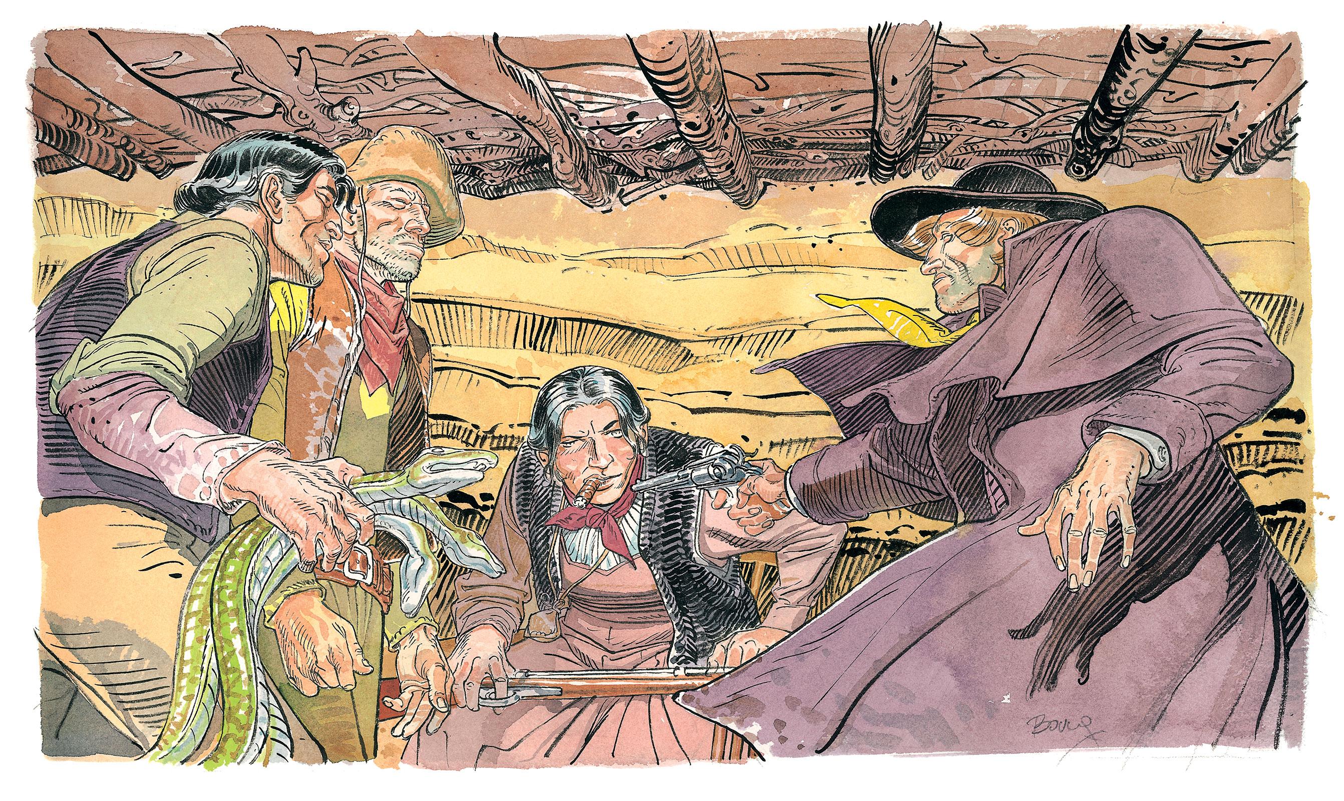 "Kadr z komiksu ""Bouncer"" Francois Boucqa"